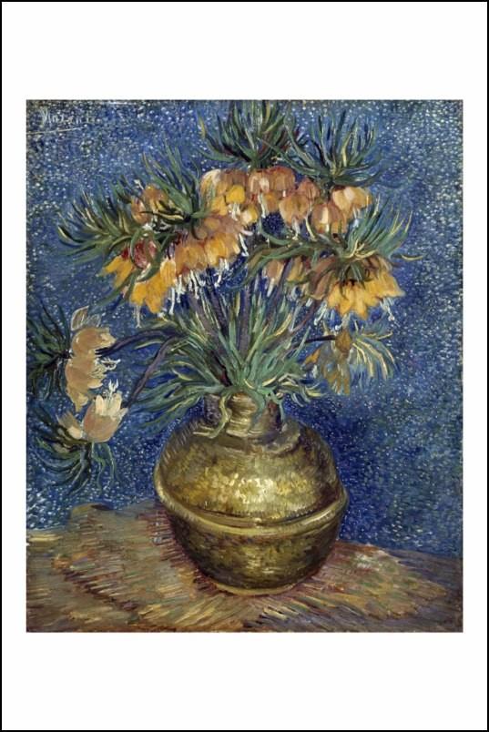 Poster affiche peinture vincent van gogh vase de fleurs - Poster peinture ...