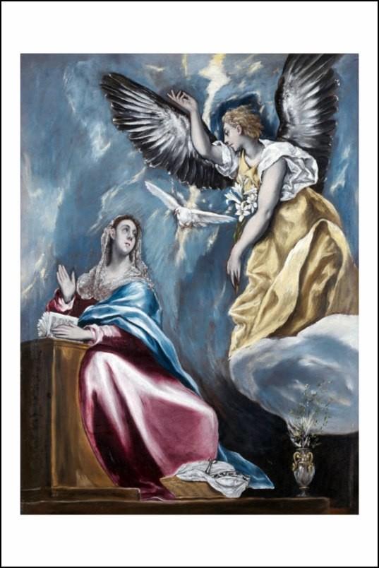 Poster affiche peinture el greco l 39 annonciation 1595 1600 - Poster peinture ...