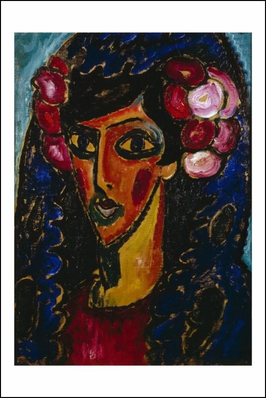 Poster affiche peinture jawlensky la mantille bleue 1913 - Poster peinture ...