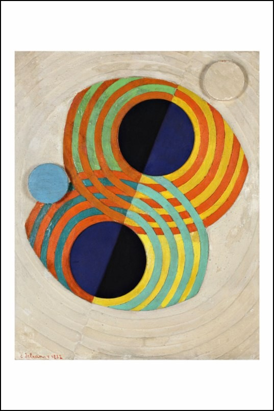 Poster affiche peinture robert delaunay relief rythmes for Poster contemporain