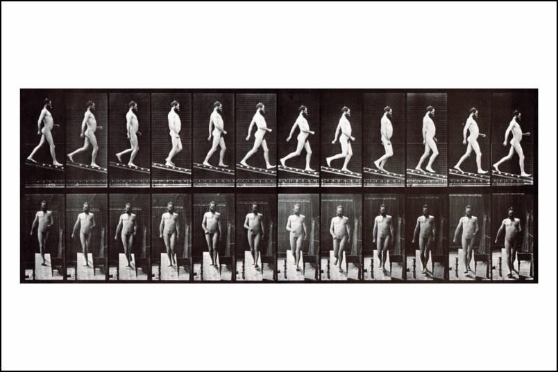 Affiche Photo Muybridge Homme NU Descendant UN Escalier Neuf