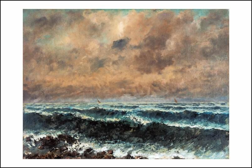 Poster affiche peinture gustave courbet mer d 39 automne 1867 - Poster peinture ...