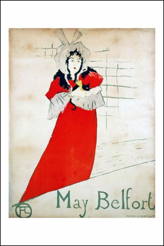 poster affiche toulouse lautrec may belfort 1895 neuf ebay. Black Bedroom Furniture Sets. Home Design Ideas