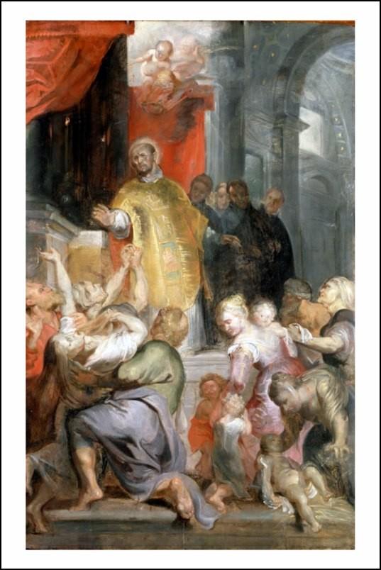 Poster affiche peinture rubens les miracles de st ignace - Poster peinture ...