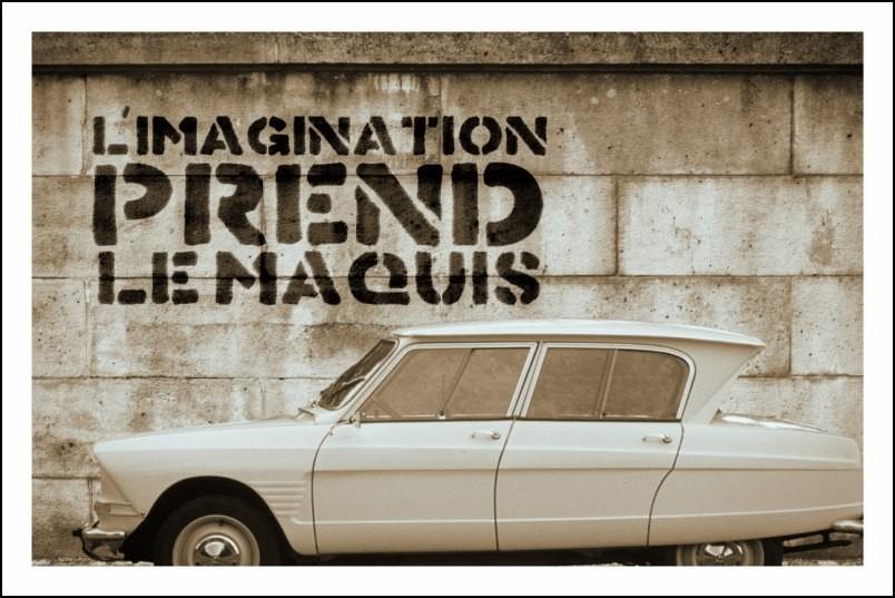 Poster affiche slogan mai 68 l 39 imagination prend le for Poster contemporain