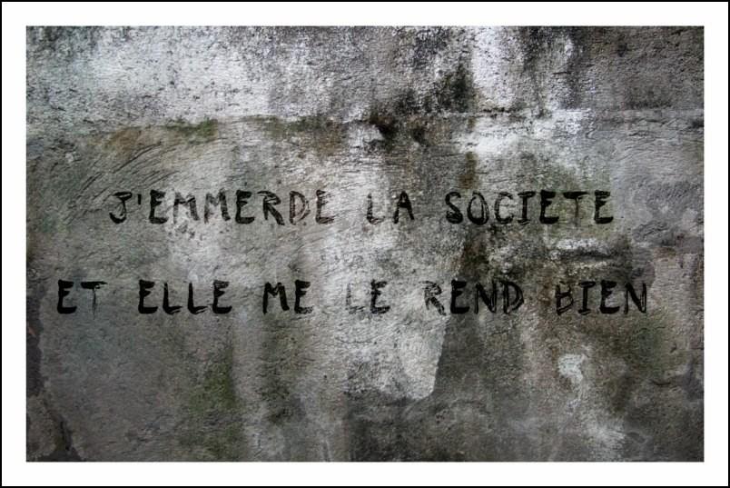 Poster affiche slogan mai 68 jemmerde la societe neuf for Posters art contemporain