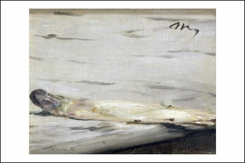 Poster affiche peinture edouard manet l 39 asperge 1880 neuf - Poster peinture ...