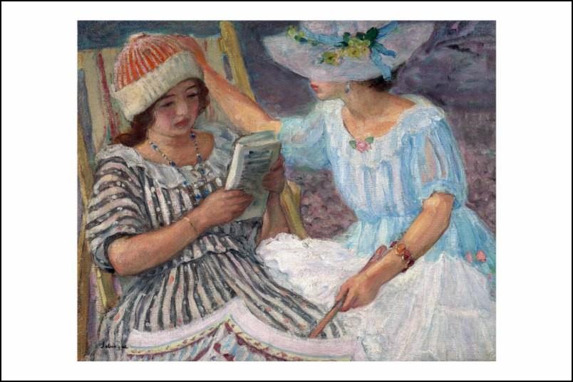 Poster affiche peinture henri lebasque marthe et nono - Poster peinture ...