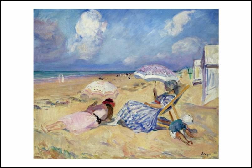 Poster affiche peinture henri lebasque sur la plage neuf - Poster peinture ...