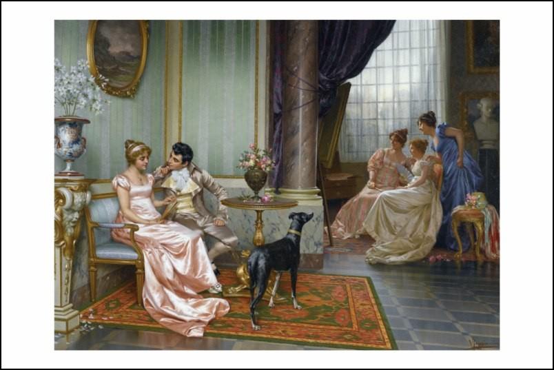 Poster affiche peinture vittorio reggianini admiration - Poster peinture ...