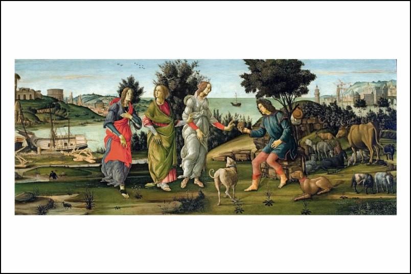 Poster affiche peinture sandro botticelli le jugement - Poster peinture ...