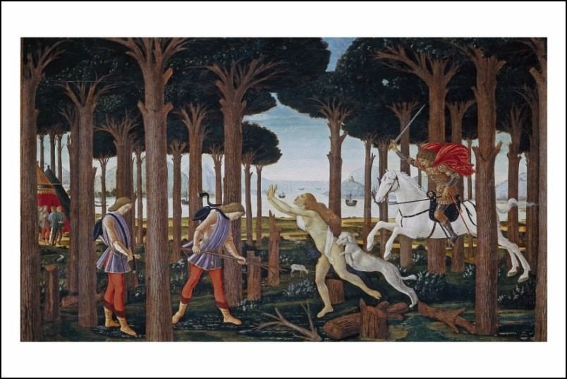 Poster affiche peinture sandro botticelli panneau 1 - Poster peinture ...