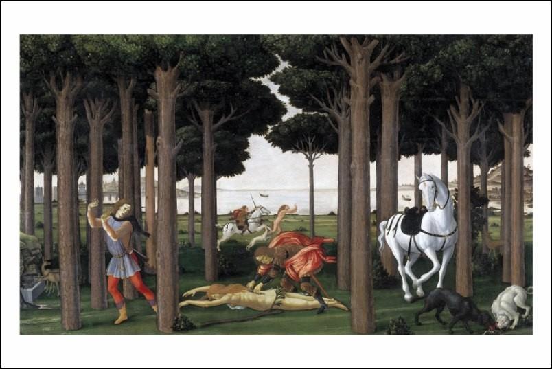 Poster affiche peinture sandro botticelli panneau 2 for Posters art contemporain