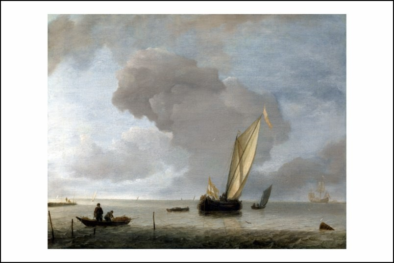 Poster affiche peinture cappelle vaisseau hollandais dans - Poster peinture ...
