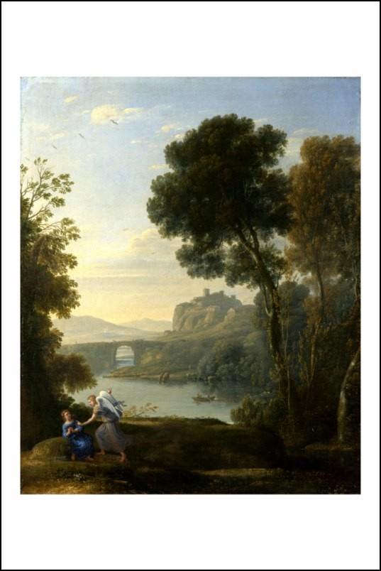 Poster affiche peinture claude lorrain paysage avec hagar - Poster peinture ...