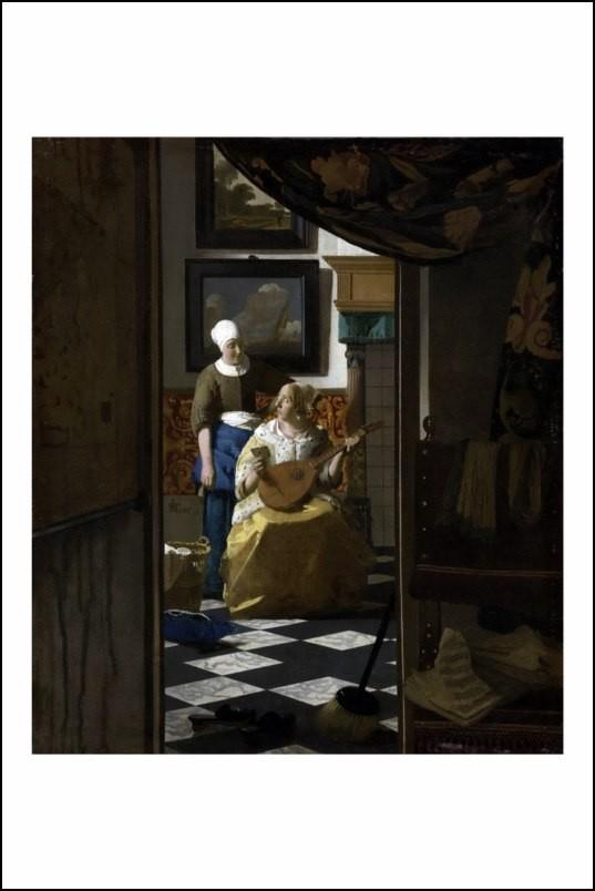Poster affiche peinture vermeer la lettre d 39 amour neuf ebay - Poster peinture ...