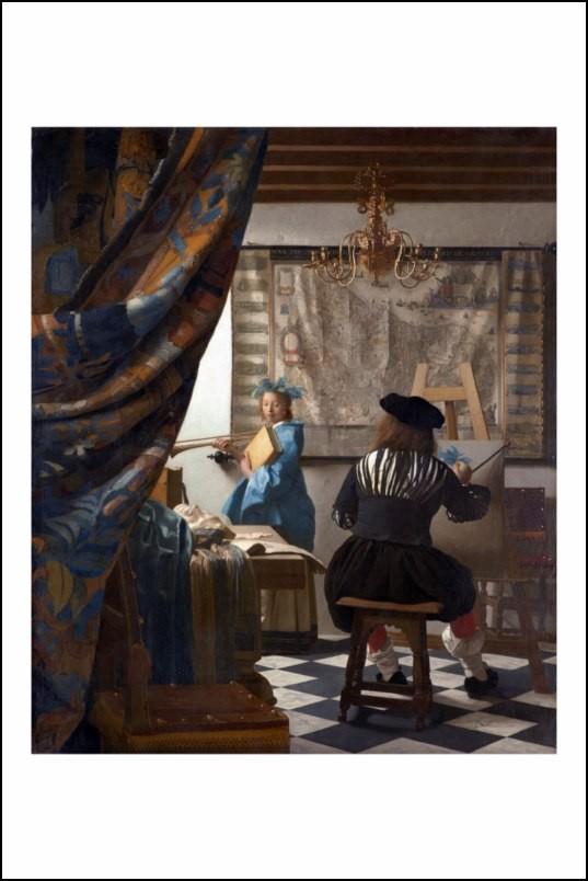 Poster affiche peinture vermeer de delft l 39 atelier du - Poster peinture ...