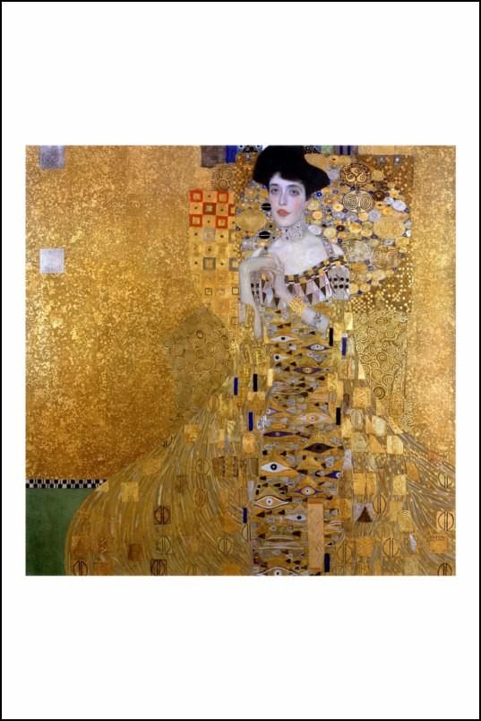 Poster affiche peinture gustav klimt portrait of adele - Poster peinture ...