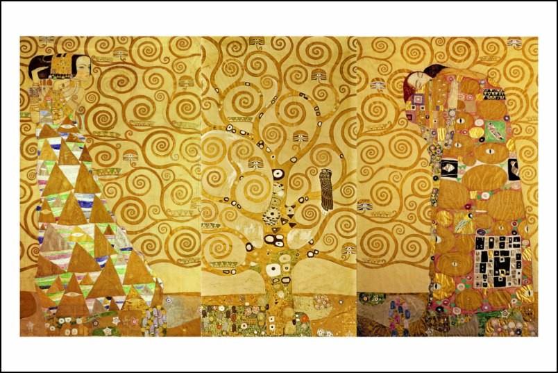 Poster affiche peinture gustav klimt l 39 arbre de vie for Posters art contemporain