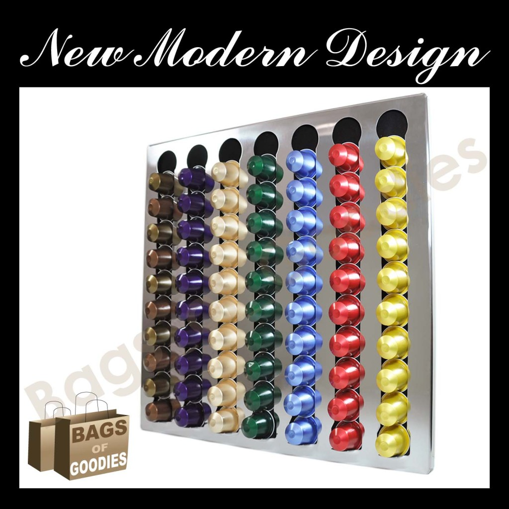 New nespresso coffee capsules pod wall holder dispenser stainless steel bnib - Nespresso distributeur capsules ...
