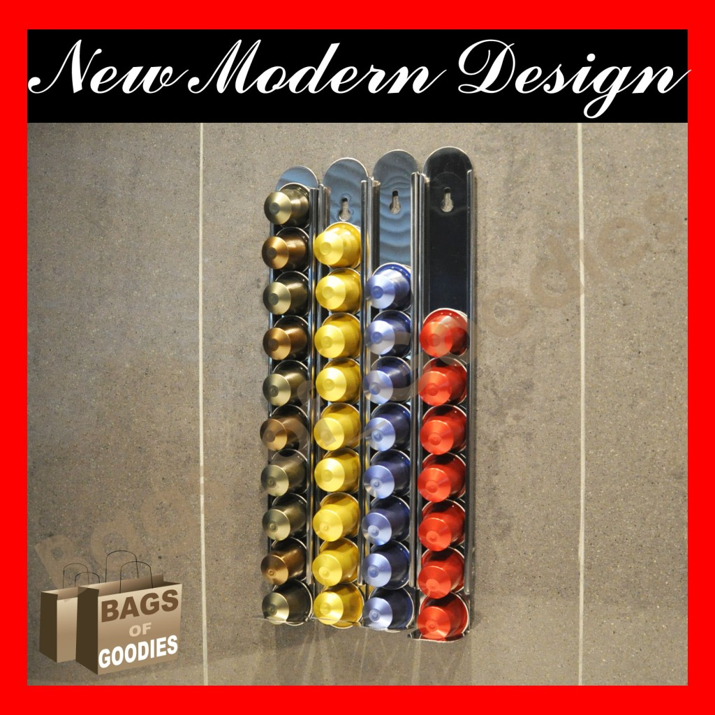 new nespresso capsules coffee pod holder wall dispenser. Black Bedroom Furniture Sets. Home Design Ideas