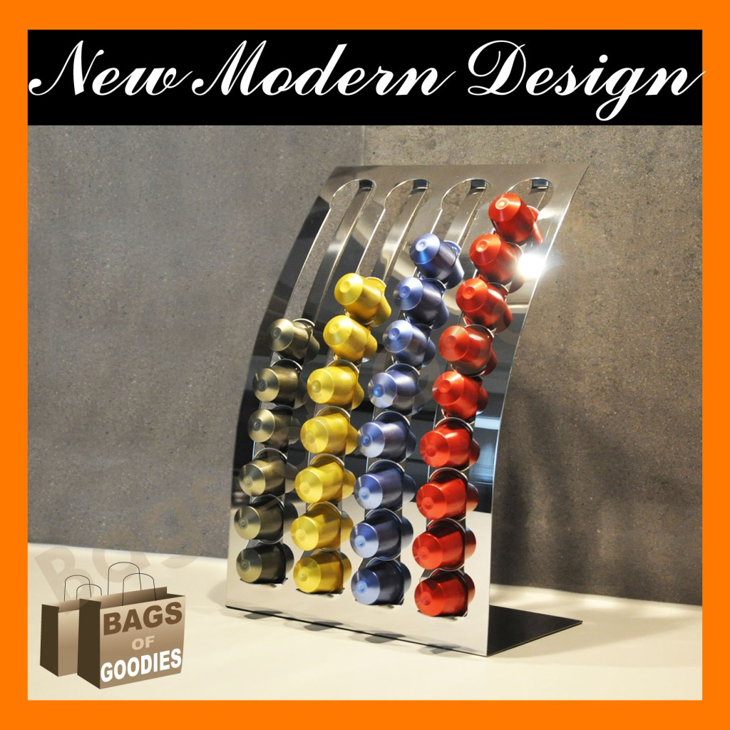 new nespresso coffee capsules pod holder stand stainless. Black Bedroom Furniture Sets. Home Design Ideas