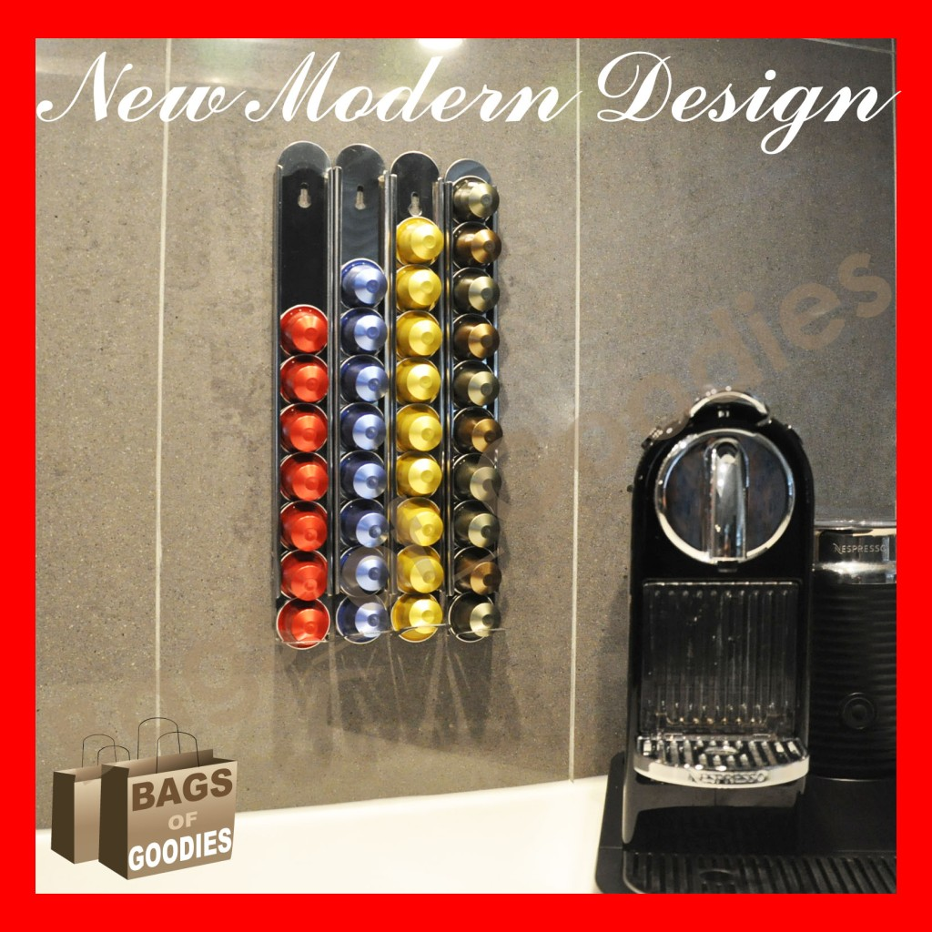 new nespresso® coffee capsules pod holder walldispenser stainless  - categories nespresso capsules holder · food products
