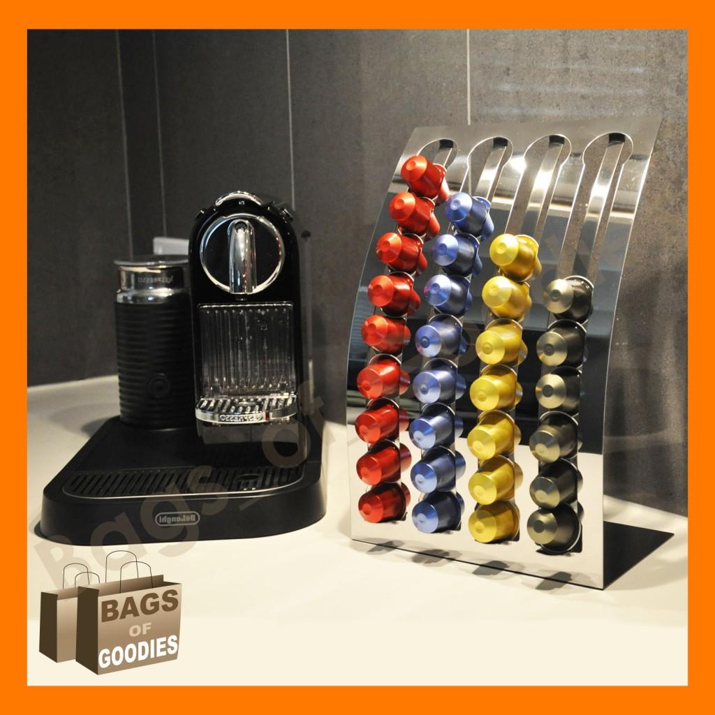 new nespresso coffee capsules pod holder stand dispenser. Black Bedroom Furniture Sets. Home Design Ideas