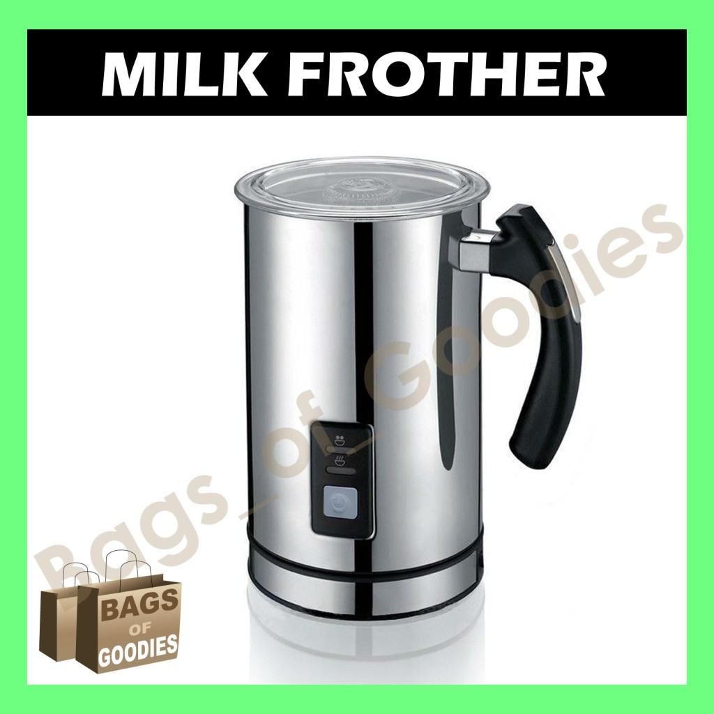 new aldi expressi coffee milk frother stainless steel electric latte cappucino ebay. Black Bedroom Furniture Sets. Home Design Ideas