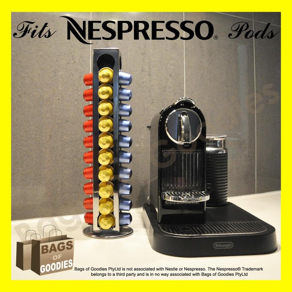 nespresso coffee 40 capsules pod holder stand dispenser. Black Bedroom Furniture Sets. Home Design Ideas