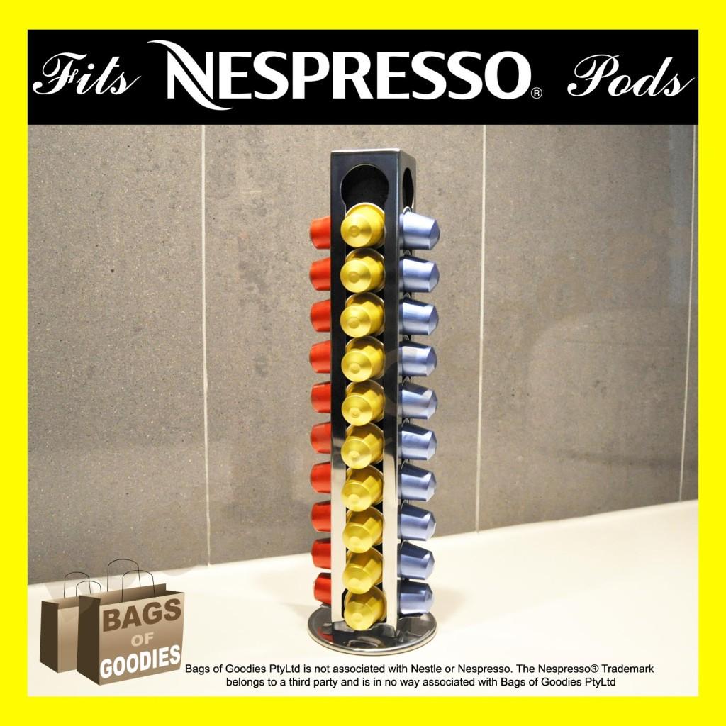 Nespresso coffee 40 capsules pod holder stand dispenser great gift ebay - Nespresso rangement capsules ...