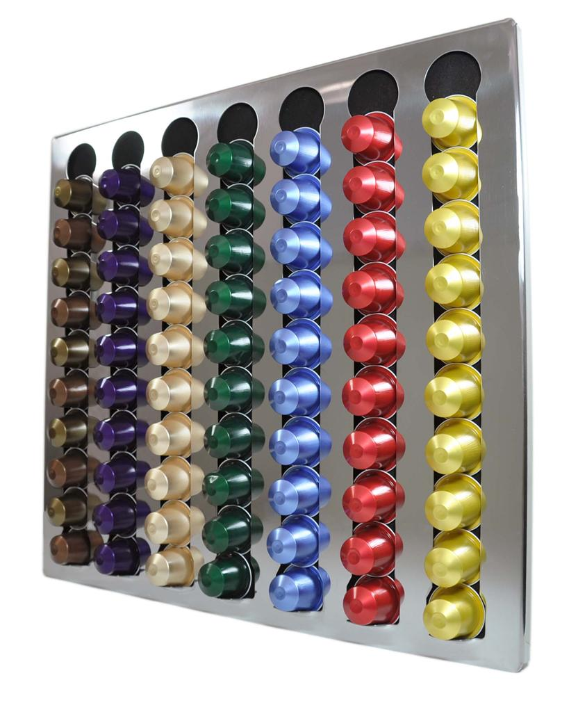 new nespresso coffee capsules 70 pods wall holder. Black Bedroom Furniture Sets. Home Design Ideas