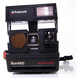 vtg polaroid 600 land camera autofocus sun 660 tested working sonar ebay. Black Bedroom Furniture Sets. Home Design Ideas