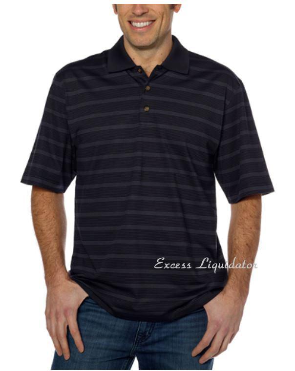 Pebble beach performance mens golf polo shirt wicking new for Pebble beach performance golf shirt