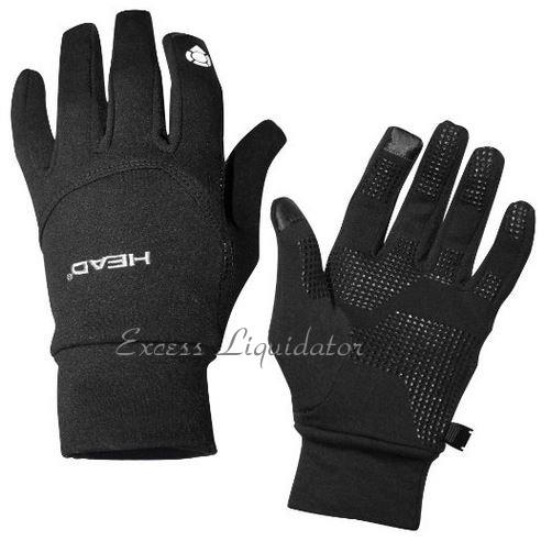 Head Multi Sport Gloves With Sensatec Black Large: HEAD DIGITAL SPORT RUNNING GLOVE WITH SENSATEC TOUCH