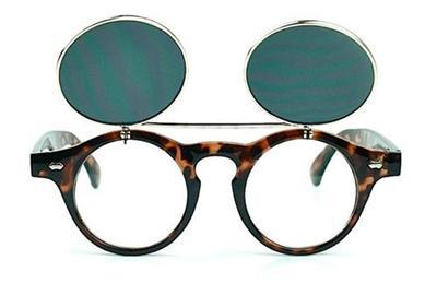 Eyeglass Frames Flip Up Sunglasses : Classic Flip Up Round Women Men Tortoise Sunglasses ...