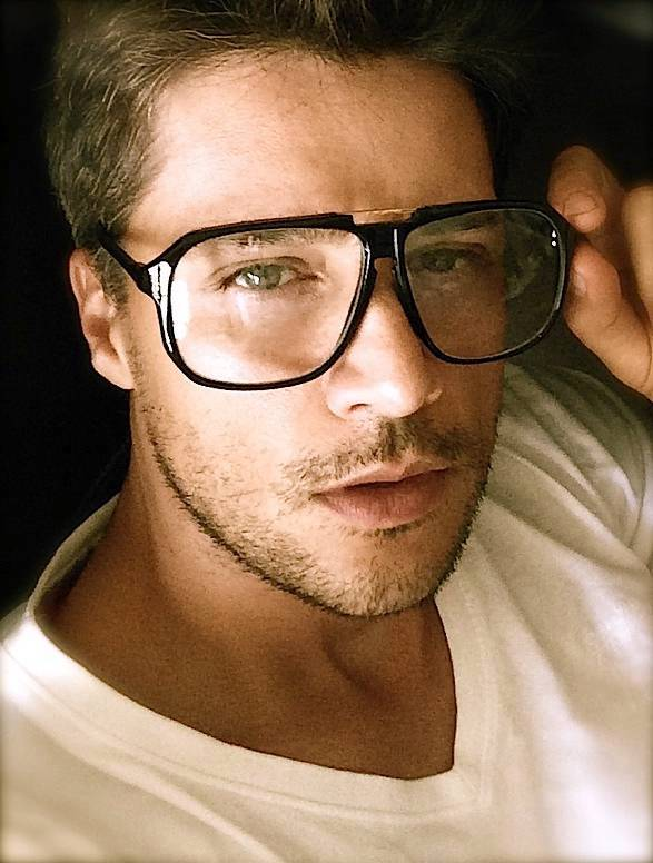 80s Vintage Retro Classic Aviator Thick Frame Men Clear ...