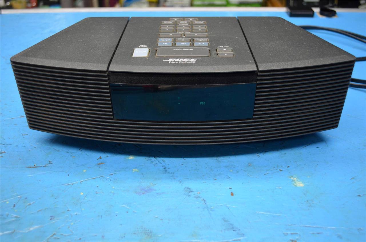 bose wave radio am fm cd player alarm clock awrc 1g ebay. Black Bedroom Furniture Sets. Home Design Ideas