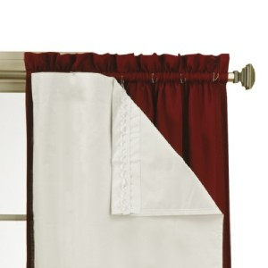 energy saving thermaliner blackout curtain pair white 54x80 ebay. Black Bedroom Furniture Sets. Home Design Ideas