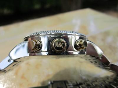 Michael Kors Womens Two tone Bracelet Gold/Silver Chronograph Watch