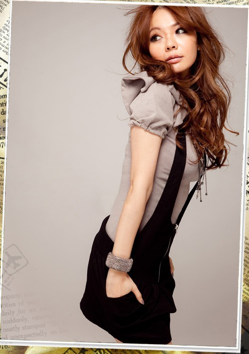 V-Neckline-Cap-Sleeve-Faux-Twinset-Ultra-Mini-Dress