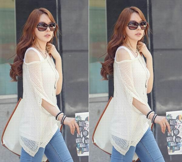 how to wear see through knit top