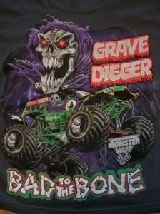 GRAVE DIGGER Monster Jam Truck NEW Boys T Shirt Size 10 12 ...