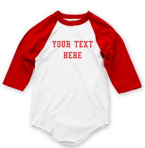 Nw personalized custom 3 4 sleeve baseball t shirts raglan for Customize your own baseball shirt