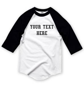 Nw personalized custom 3 4 sleeve baseball t shirts raglan for Custom raglan baseball shirt