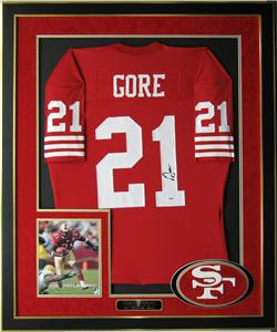 Frank Gore Autographed San Francisco 49ers Jersey Framed   COA