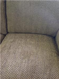 New Century Furntiure Sofa. Shown In A Brown Herringbone Fabric With Loose  Back And Comfort Crown Seat Cushion Fill.