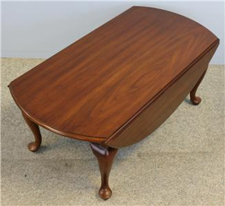 henkel harris black cherry drop leaf oval coffee table finish 24 1986 ebay. Black Bedroom Furniture Sets. Home Design Ideas