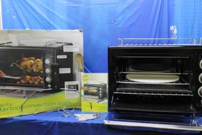 Food Network Countertop Convection Oven Manual : Food Network Countertop Convection Oven w Rotisserie Amp Pizza Stone ...