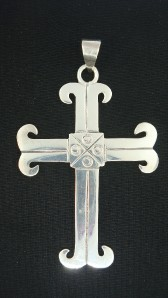 925 Mexico Sterling Silver Large Cross Pendant Religious